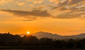 Sun acima Foto de Stock Royalty Free