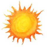 Sun in acquerello Fotografie Stock Libere da Diritti