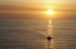 The Sun affichant la voie Photographie stock