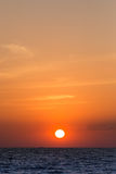 Sun ajustou-se no verão em pattaya Foto de Stock