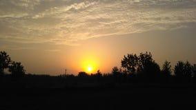 Sun alaranjado Fotografia de Stock