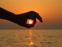 Sun all'interno Immagine Stock Libera da Diritti