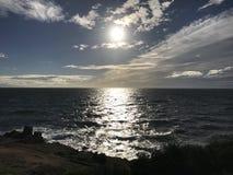 Sun alla spiaggia immagine stock
