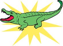 Sun Alligator Royalty Free Stock Images