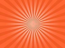 Sun anaranjado irradia el gráfico de vector abstracto estallado ilustración del vector