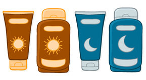 Sun And Moon Protection Stock Image