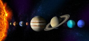 Free Sun And The Planets Of The Solar System Stock Images - 173318354
