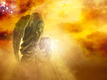 Sun angel Stock Photo