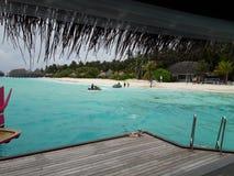Sun Aqua Vilu Reef resort in maldives royalty free stock image