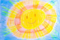 Sun-Aquarell Stockfoto