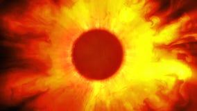 Sun ardente illustrazione vettoriale