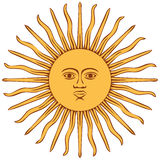 Sun of Argentina flag Stock Image