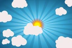 Sun-Art. Sun on the sky. Vector Stock Photography