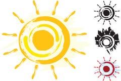 Sun Art Symbol Serie Stock Photography