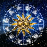 Sun astrology Stock Images