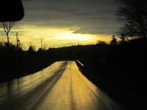 Sun atrás da nuvem de chuva Fotografia de Stock Royalty Free