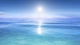 Sun au-dessus de la mer illustration de vecteur