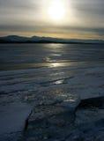 Sun au-dessus de Liptovska Mara photographie stock libre de droits
