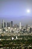 Sun au-dessus de Los Angeles Photographie stock