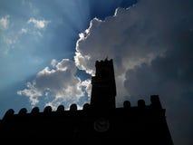 Sun au-dessus de San Gimignano Images stock