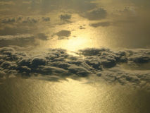 Sun auf dem Meer Lizenzfreie Stockfotos