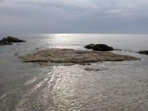 Sun auf dem Meer stockfotografie