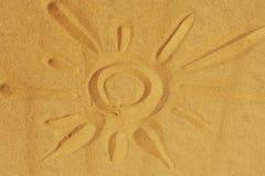 Sun auf dem Sand Lizenzfreie Stockfotos