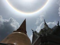 Sun auf dem Tempel Lizenzfreies Stockbild