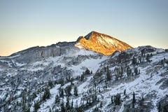 Sun auf Wallowa Bergen, Oregon Lizenzfreies Stockfoto
