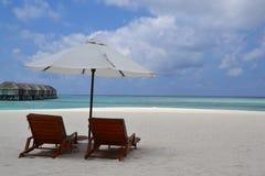 Sun-Aufenthaltsräume für zwei Lizenzfreie Stockfotos