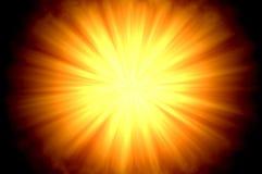 Sun-Aufflackern zentriert Stockfoto