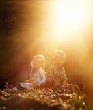 Sun-Aufflackernportrait lizenzfreie stockbilder