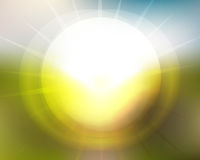 Sun aumenta borrão dos grupos de Sun Imagens de Stock