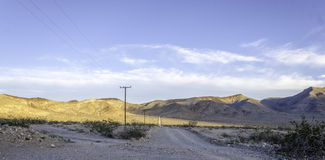 Sun aumenta sobre o vale Califronia de Searles Imagem de Stock
