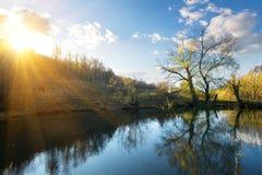 Sun in autumn Royalty Free Stock Photo