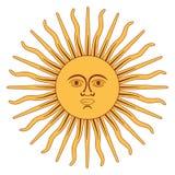 The Sun av den Argentina flaggan vektor illustrationer