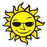 Sun avec des glaces Photo libre de droits