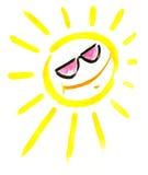 Sun avec des lunettes de soleil Image stock