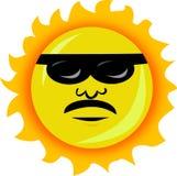 Sun avec des lunettes de soleil Photographie stock libre de droits