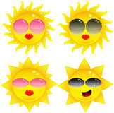 Sun avec des lunettes de soleil Photo libre de droits