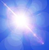 Sun avec l'épanouissement de lentille Photographie stock
