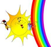 The Sun avec le gland Photo libre de droits
