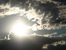 Sun avec le nuage Photographie stock