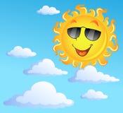 Sun avec le thème 3 de nuages Photographie stock libre de droits