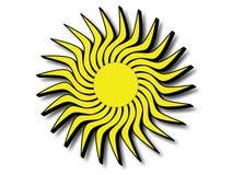 Sun avec les bords noirs Photographie stock libre de droits
