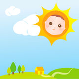 Sun baby card Royalty Free Stock Photos
