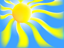 Sun background. Uploaded with Ai Illustrator 10 Stock Photography