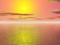 Sun background. Background of warm sunshine over the sea stock photos
