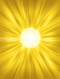 Sun Background. A yellow sun background with beams of light vector illustration