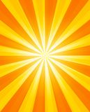 Sun background with glowing rays Royalty Free Stock Photos